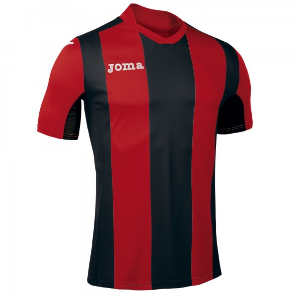Joma Pisa Short Sleeve Jersey Black/Red