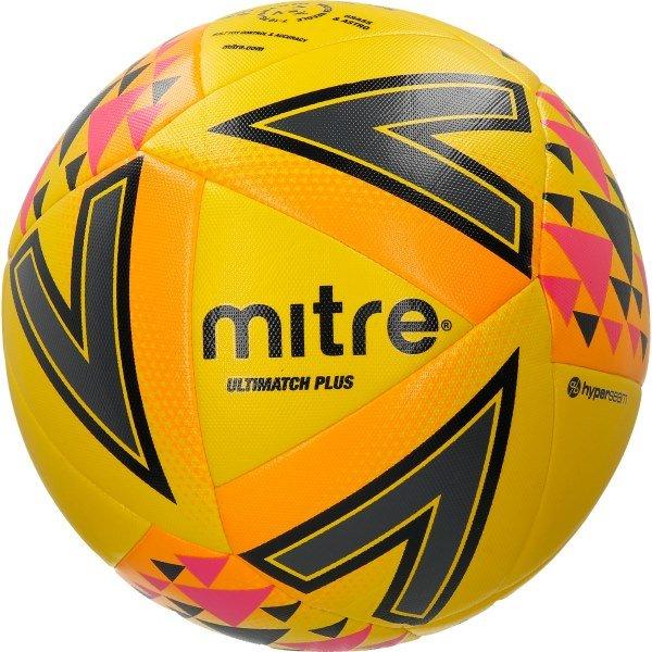 Mitre Ultimatch Plus Ball Yellow