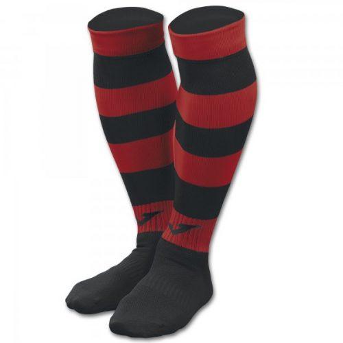 Zebra II Football Socks Black/Red