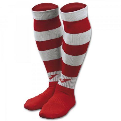 Zebra II Football Socks Red/White