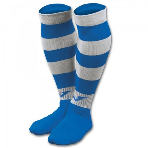 Zebra II Football Socks Royal/White