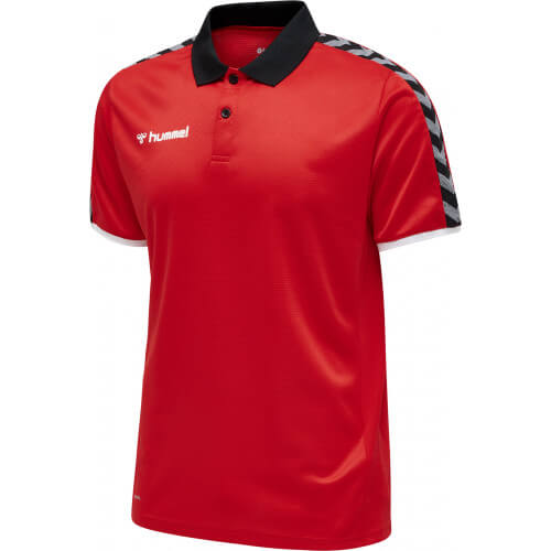 Hummel Authentic Functional Polo True Red