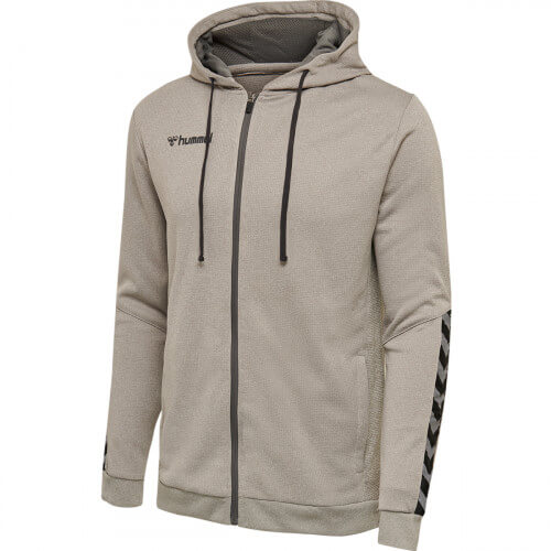 Hummel Authentic Poly Zip Hoodie Grey