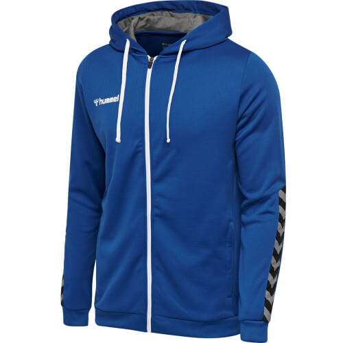 Hummel Authentic Poly Zip Hoodie True Blue
