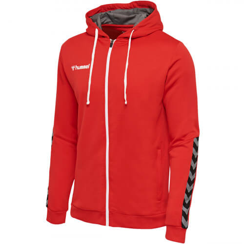 Hummel Authentic Poly Zip Hoodie True Red