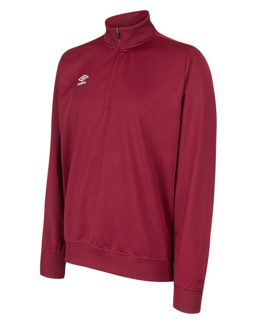 Club Essential 1/2 Zip Jumper Claret