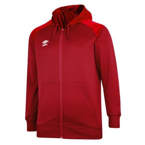 Zipped Hoody Red