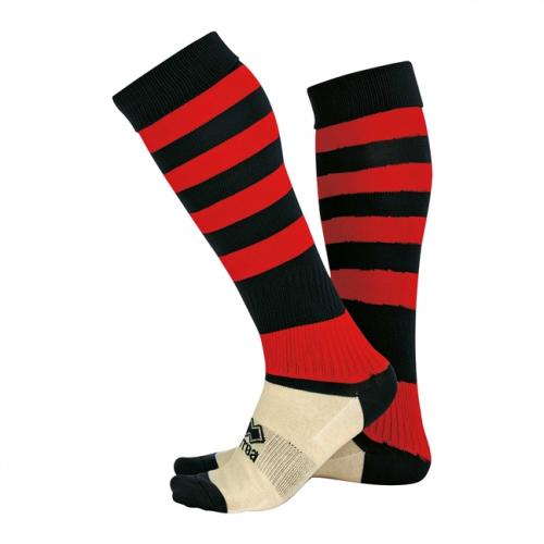 Zone Socks Black & Red Striped
