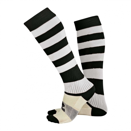 Zone Socks Black & White Striped
