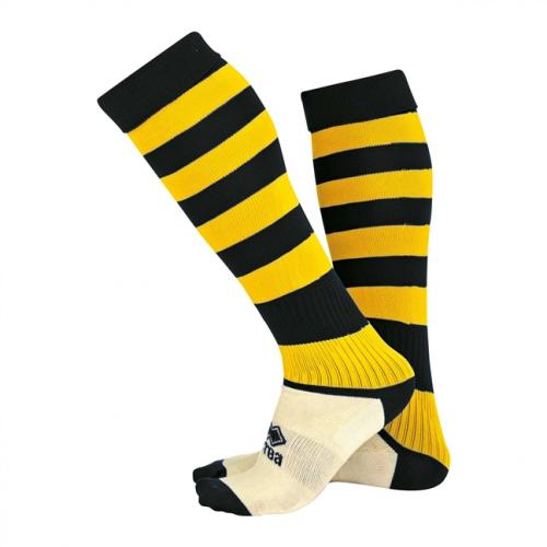 Zone Socks Black & Yellow Striped