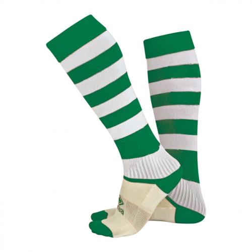 Zone Socks Green & White Striped