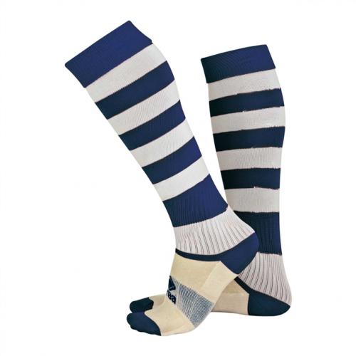Zone Socks Navy & White Striped