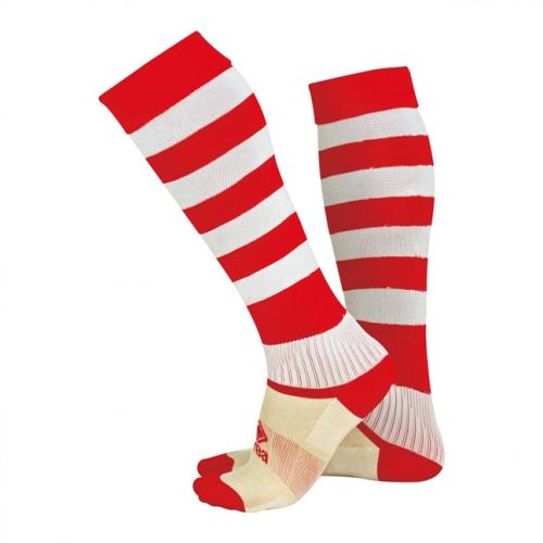 Zone Socks Red & White Striped