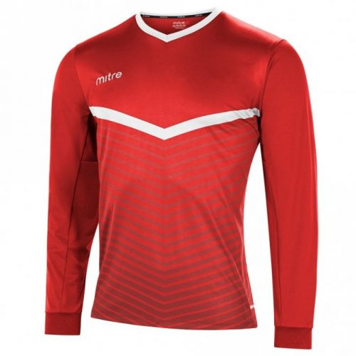 mitre unite top red and white
