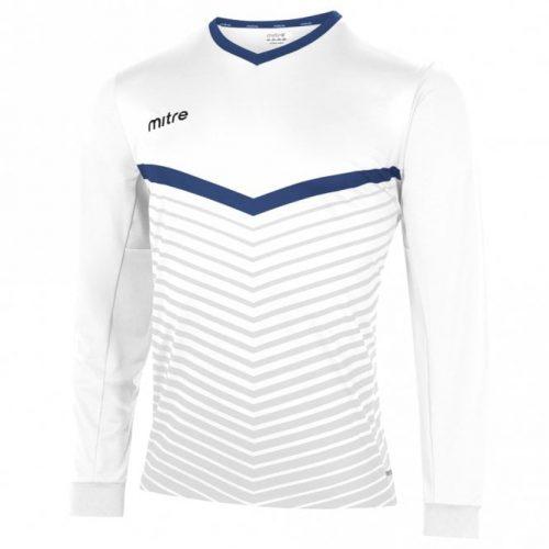 mitre unite top white and blue